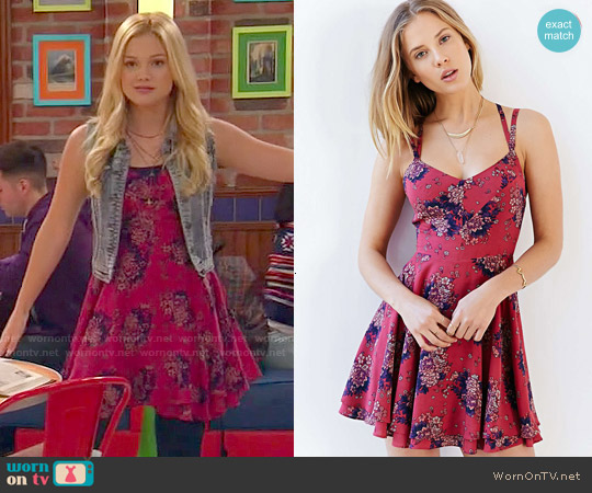 Wornontv Lindy S Red Floral Dress On I Didn T Do It