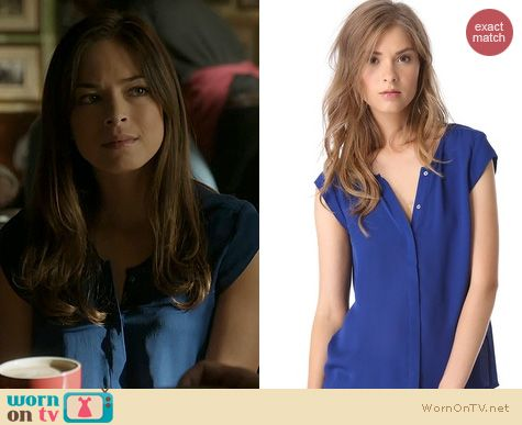BATB Fashion: Joie Dimante Top in blue worn by Kristen Kreuk