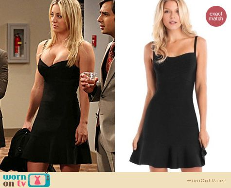 The Big Bang Theory Fashion: Guess Celeste bandage dress worn by Kaley Cuoco