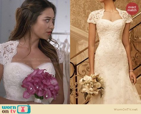 Casablanca 2102 Bridal Gown worn by Shay Mitchell on PLL