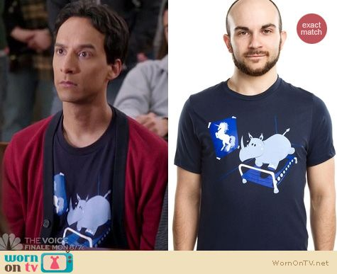 Community Fashion: Runnin Rhino shirt from Threadless worn by Abed Nadir