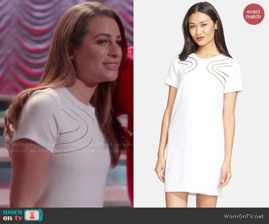 WornOnTV Rachels White Short Sleeve Shift Dress On Glee