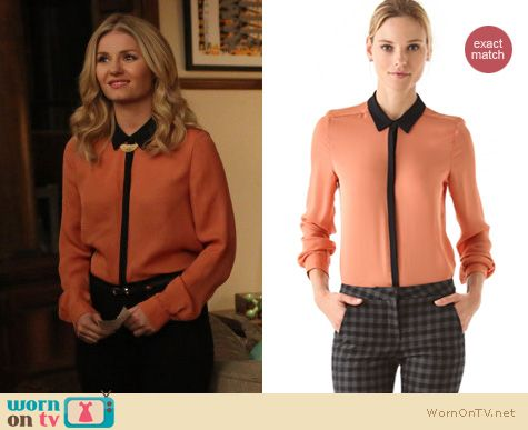 Happy Endings Fashion: Gillian blouse by ALC worn by Elisha Cuthbert