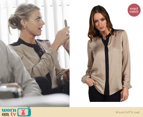 Happy Endings Fashion: Gerine Cicero blouse by Theory worn by Eliza Coupe