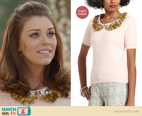 Hart of Dixie Fashion: Anthropologie Peter-Pan Pailettes sweater worn by Kaitlyn Black