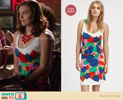 Hart of Dixie Fashion: Marc by Marc Jacobs supernova blossom dress worn by Annabeth