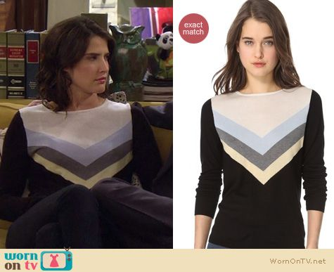 How I Met Your Mother Fashion: L'Agence chevron striped top worn by Cobie Smulders