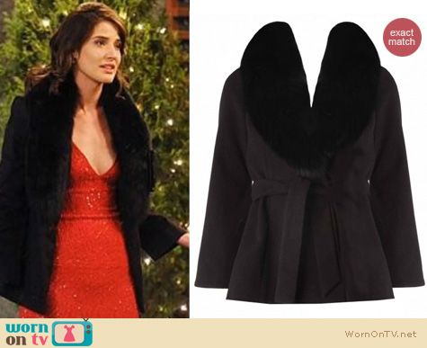 How I Met Your Mother Fashion: Alice and Olivia Kyah jacket worn by Cobie Smulders
