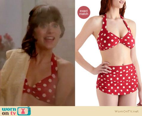 ... swimsuit on New Girl | Zooey Deschanel | Clothes and Wardrobe from TV