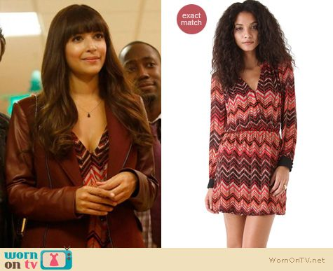 New Girl Fashion: Parker Zig Zag dress worn by Hannah Simone