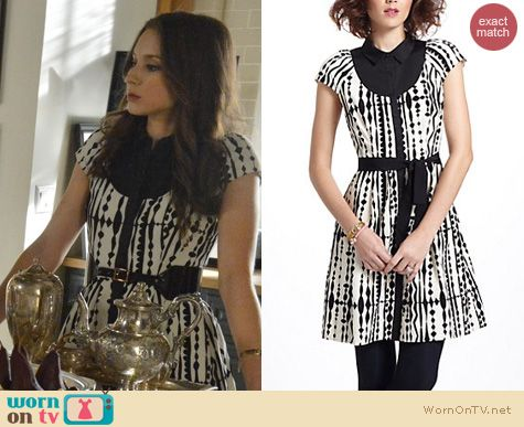 PLL Fashion: Anthropologie Harlequin Cord Shirtdress worn by Troian Bellisario