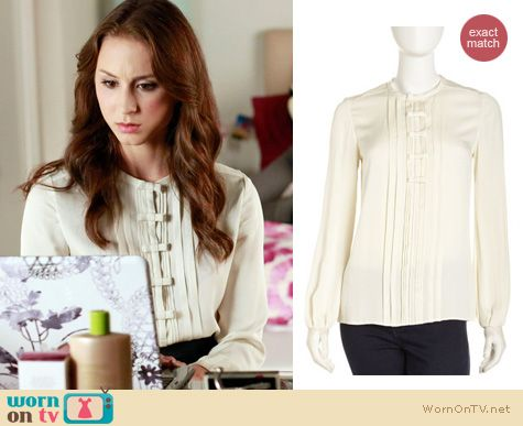 Pretty Little Liars Fashion: DVF Novalee top worn by Troian Bellisario