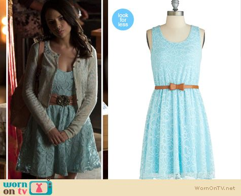 Pretty Little Liars Fashion: Mona's blue lace dress