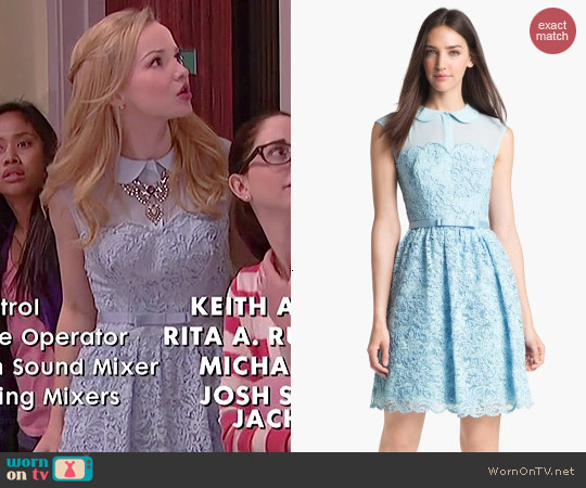 Wornontv Liv S Blue Lace Collared Dress On Liv And Maddie