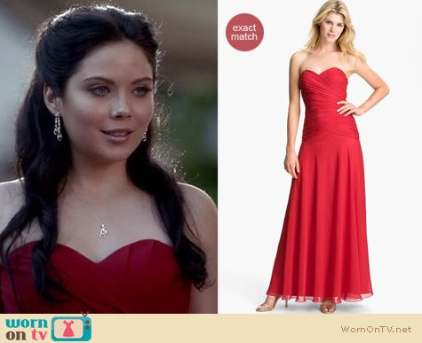 Vampire Diaries Fashion: Aprils red gown by Dalia MacPhee