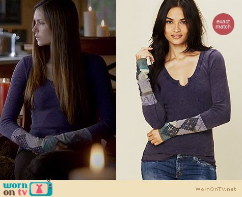 The Vampire Diaries Fashion: Free People Kombucha Cuff top worn by Nina Dobrev