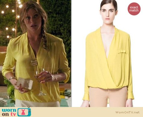 Zara Yellow Draped Blouse 47
