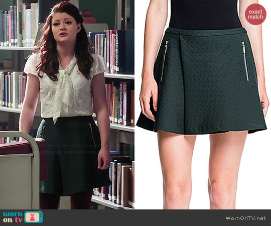 1 State Quilted Houndstooth Mini Skirt worn by Belle on OUAT