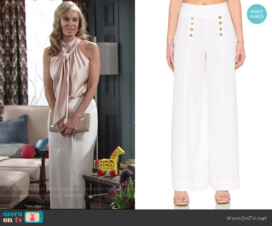 1 State Flared Leg Sailor Pant worn by Ashley Abbott on The Young & the Restless