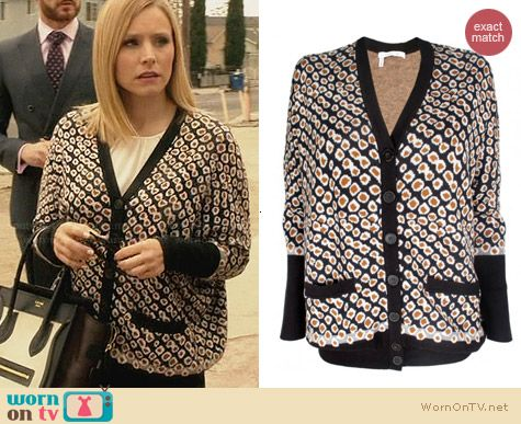 10 Crosby by Derek Lam Drop Shoulder Cardigan worn by Kristen Bell on House of Lies