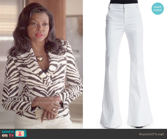 10 Crosby by Derek Lam High Waist Flare Jeans worn by Cookie Lyon on Empire