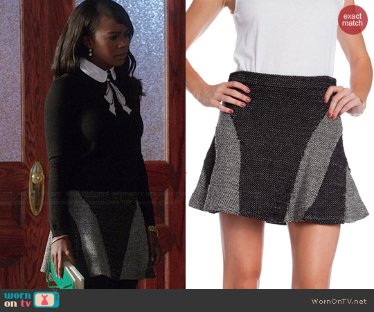 10 Crosby by Derek Lam Tweed Flared Skirt worn by Aja Naomi King on HTGAWM
