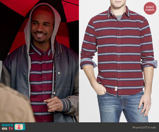 1901 Red Stem Antelope Stripe Shirt worn by Damon Wayans Jr on New Girl