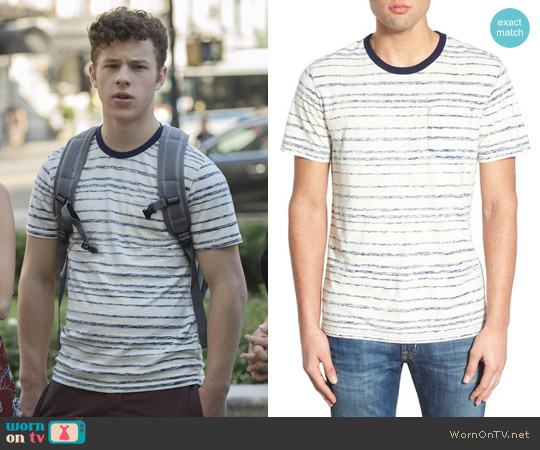 1901 'Lopez' Button Pocket Crewneck T-Shirt worn by Nolan Gould on Modern Family