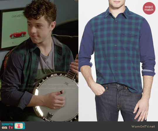 1901 Plaid Blocked Shirt worn by Nolan Gould on Modern Family