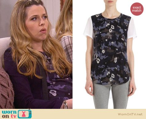 3.1 Phillip Lim Camo Front Tee worn by Majandra Delfino on FWBL