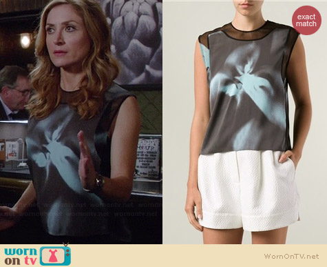 3.1 Phillip Lim Chiffon Blouse worn by Sasha Alexander on Rizzoli & Isles