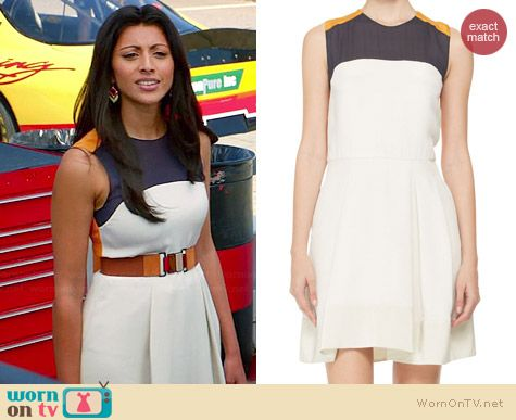 3.1 Phillip Lim Clique Tri-Color Dress worn by Reshma Shetty on Royal Pains