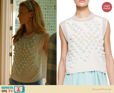 3.1 Phillip Lim Dandelion Top worn by Brooke D'Orsay on Royal Pains