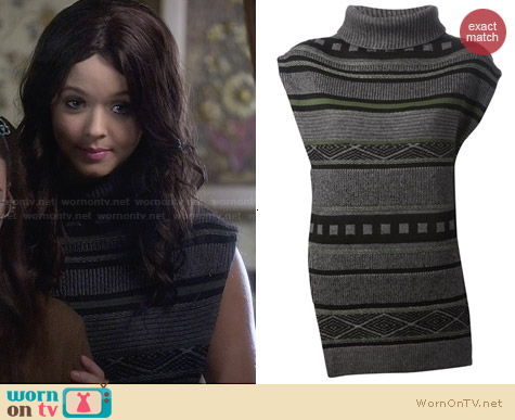 3.1 Phillip Lim Knitted Asymmetric Sweater Tunic worn by Sasha Pieterse on PLL