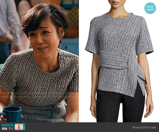 3.1 Phillip Lim Paneled Braided Jacquard Tee worn by Yunjin Kim on Mistresses