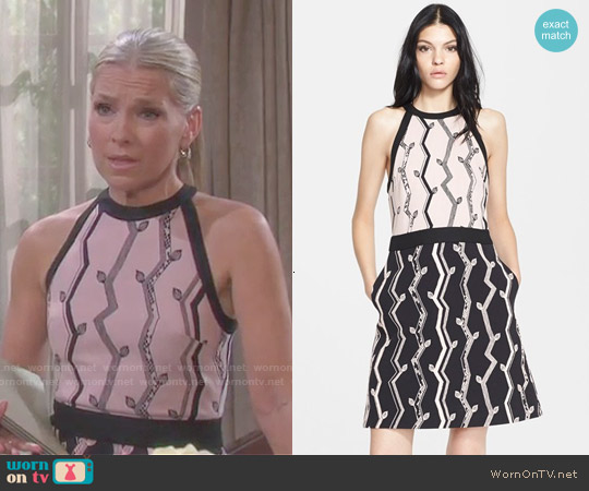 3.1 Phillip Lim Cutaway A-Line Dress worn by Melissa Reeves on Days of our Lives