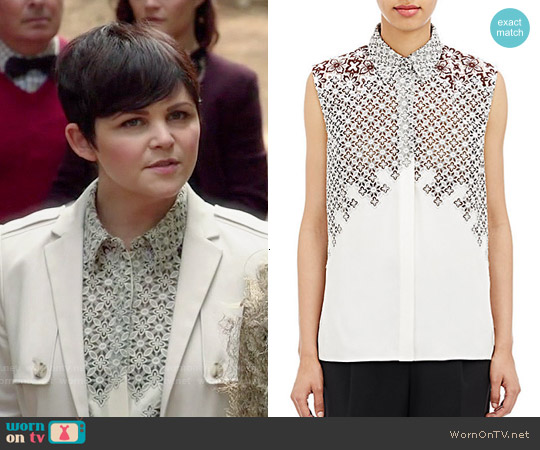 3.1 Phillip Lim Embroidered Sleeeless Blouse worn by Ginnifer Goodwin on OUAT