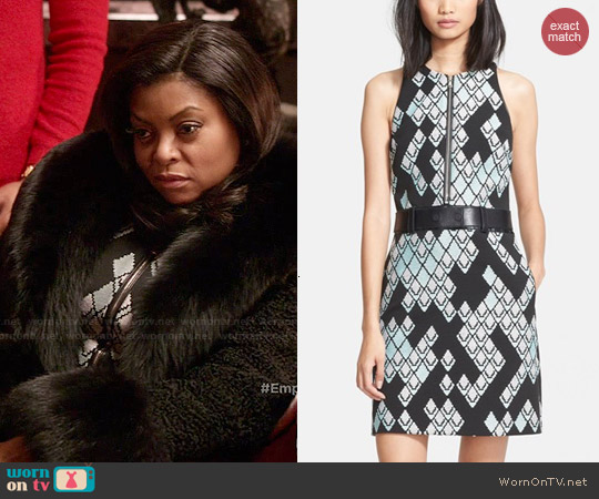 3.1 Phillip Lim Belted Geometric Print Zip Front Dress worn by Taraji P. Henson on Empire