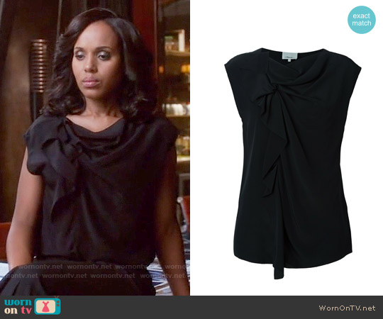3.1 Phillip Lim Gathered Crepe Blouse worn by Kerry Washington on Scandal