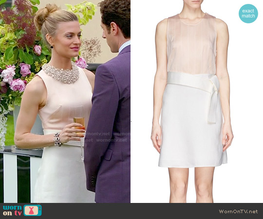 3.1 Phillip Lim Judo Belt Colorblock Dress worn by Brooke D'Orsay on Royal Pains