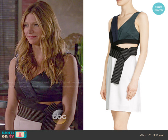3.1 Phillip Lim Judo Dress worn by Jes Macallan on Mistresses