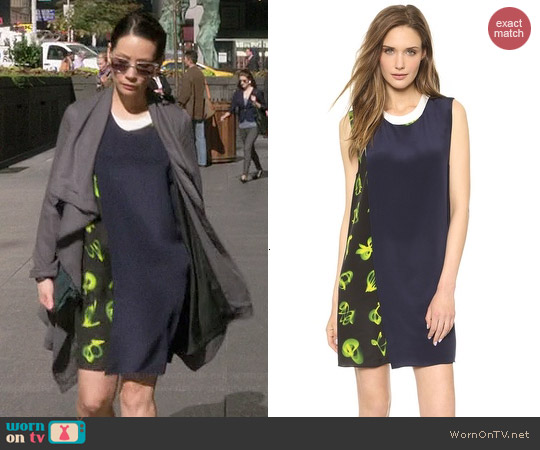 3.1 Phillip Lim Layered Mix Print Dress worn by Joan Watson on Elementary