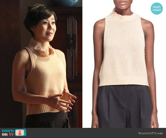 3.1 Phillip Lim Turtleneck Knit Tank worn by Yunjin Kim on Mistresses