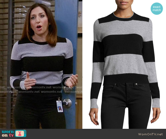 360 Cashmere Cashmere Striped Pullover Sweater worn by Chelsea Peretti on Brooklyn Nine-Nine