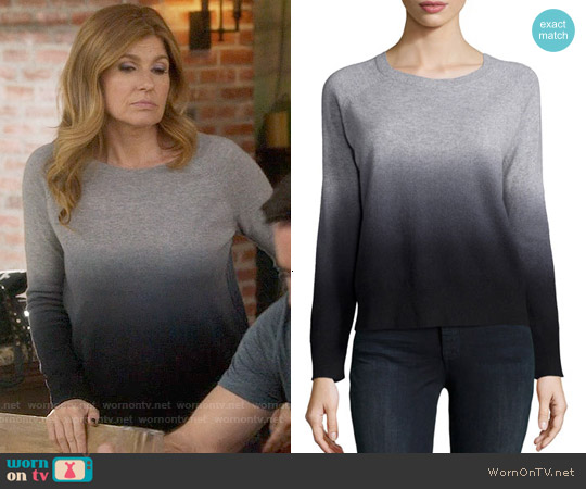 360 Sweater Cashmere Ombre Sweater worn by Connie Britton on Nashville