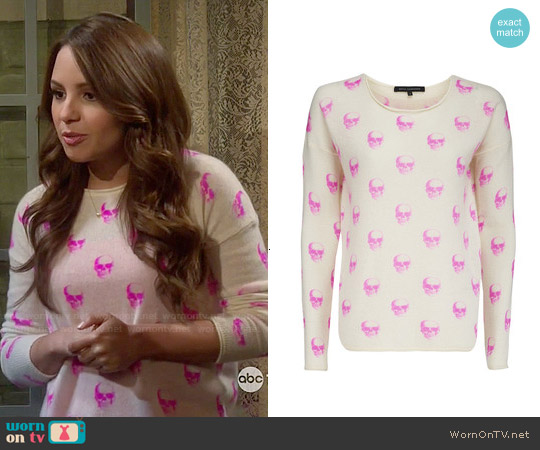 360 Sweater 'Jackie Dee' Cashmere Sweater worn by Aimee Carrero on Young & Hungry