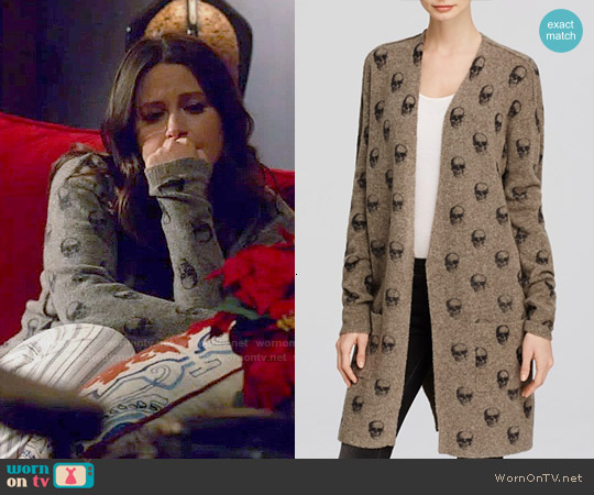 360 Sweater Ravin Cardigan worn by Katie Lowes on Scandal