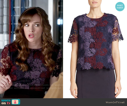 424 Fifth Chemical Lace Top worn by Danielle Panabaker on The Flash