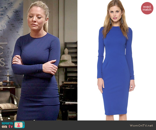 5th & Mercer Electric Blue Long Sleeve Dress worn by Kaitlin Doubleday on Empire