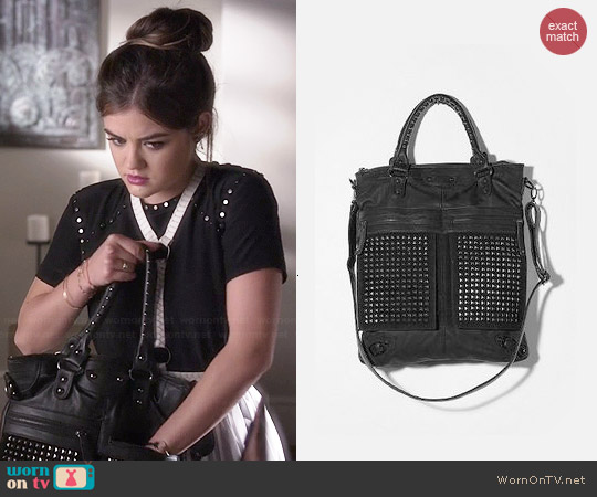 7 Chi Studded Tote Worn By Lucy Hale On Pll